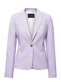 Classic-Fit Machine-Washable Italian Wool Blend Blazer