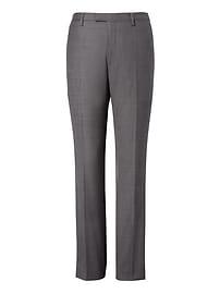 Slim Italian Wool Sharkskin Suit Trouser