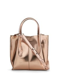 Metallic Mini Structured Tote
