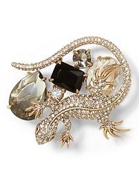 Jeweled Lizard Brooch