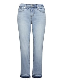 Girlfriend Light Wash Cropped Jean