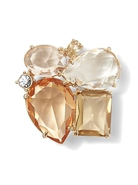 Blush Gemstone Brooch