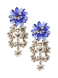 Beaded Floral Statement Earring