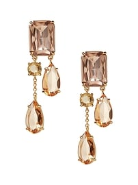 Blush Gemstone Statement Earring