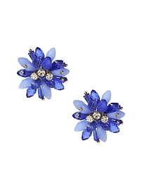 Beaded Floral Statement Stud Earring