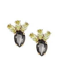 Jeweled Cactus Stud Earring