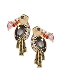 Jeweled Toucan Stud Earring