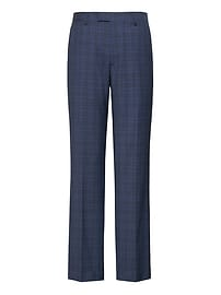 Standard Navy Plaid Italian Wool Suit Trouser