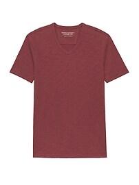 T-shirt à col enV rétro