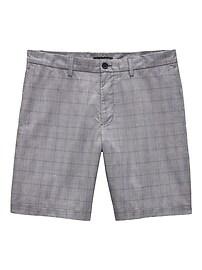 """Aiden Slim 9"""" Plaid Stretch-Cotton Short"""