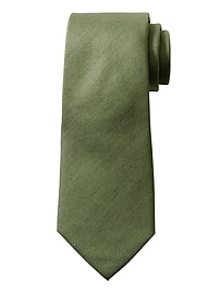 Cravate Nanotex® unie en coton et soie
