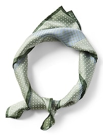 Écharpe carrée moyenne à motifs géométriques multiples