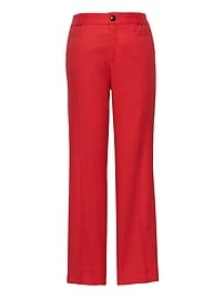 Logan Trouser-Fit Cropped Stretch Linen-Cotton Pant