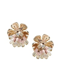 Budding Floral Beaded Stud Earring
