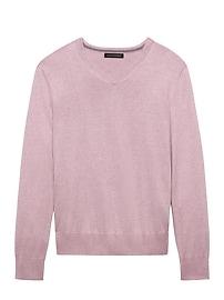 Silk Cotton Cashmere Vee