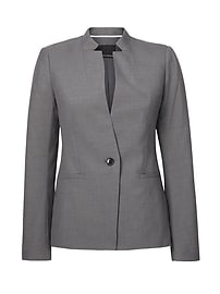 Long and Lean-Fit Fluted-Sleeve Blazer