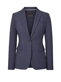 Long and Lean-Fit Lightweight Wool Blazer