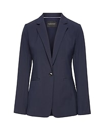 Boyfriend-Fit Machine-Washable Italian Wool Blazer