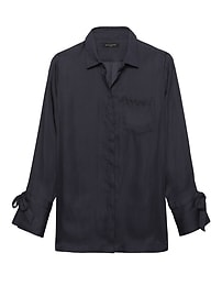 Parker Tunic-Fit Tie-Cuff Shirt