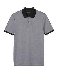 Luxury-Touch Stripe Polo