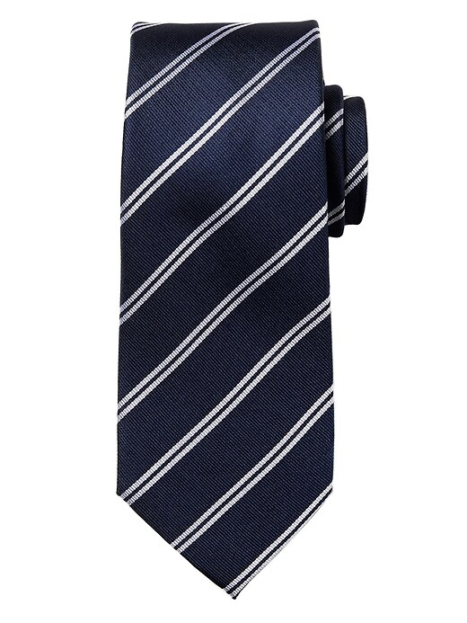 Double Stripe Silk Nanotex® Tie