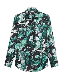 Dillon Classic-Fit Botanical Print Soft Shirt