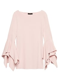 Handkerchief-Sleeve Sweater Top
