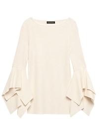Handkerchief-Sleeve Sweater Top