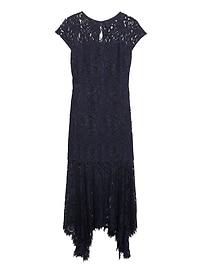 Lace Trumpet Midi Dress