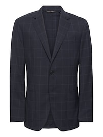Standard Navy Smart-Weight Performance Wool Blend Suit Jacket