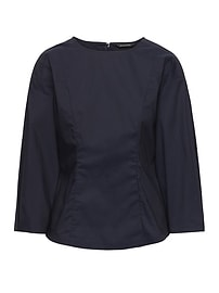 Paneled Bubble-Sleeve Top
