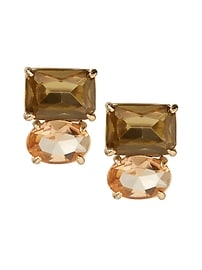 Blush Gemstone Stud Earring