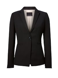 Long and Lean-Fit Solid Blazer