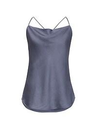 Heritage Silk Cowl-Neck Camisole Tunic