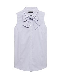 Riley Tailored-Fit Sleeveless Shirt with Removable Tie