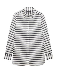 Parker Tunic-Fit Metallic Stripe Shirt