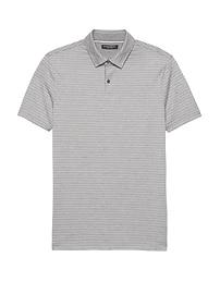 Slim Luxury-Touch Texture Stripe Polo