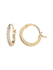 Pave Mini Hoop Earring