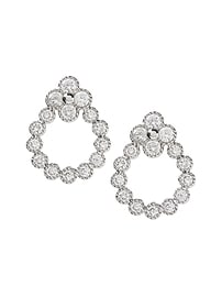 Pave Open Drop Stud Earring