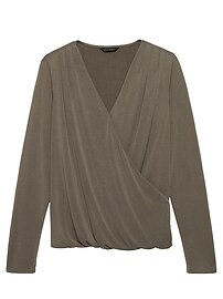 Modal Blend Wrap-Effect Top