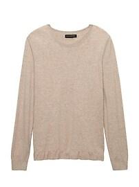 Ruffle-Hem Sweater Crew