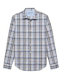 Grant Slim-Fit Luxe Poplin Plaid Shirt