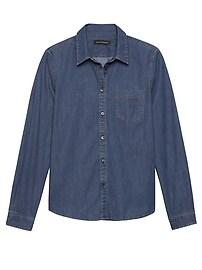 Quinn Boy-Fit Denim Shirt