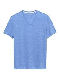 T-shirt rétro à col enV