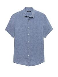 Chemise à manches courtes en lin, coupe Camden standard