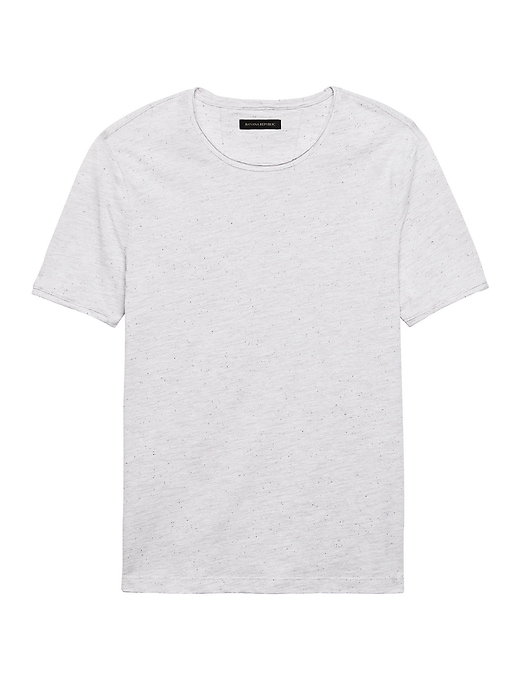Soft Wash Raw Edge Crew Neck T Shirt by Banana Repbulic