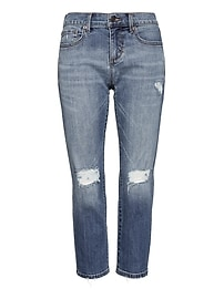 Girlfriend Medium Wash Cropped Jean