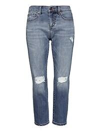 Girlfriend Medium Wash Cropped Jean
