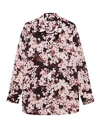Parker Tunic-Fit Floral Shirt
