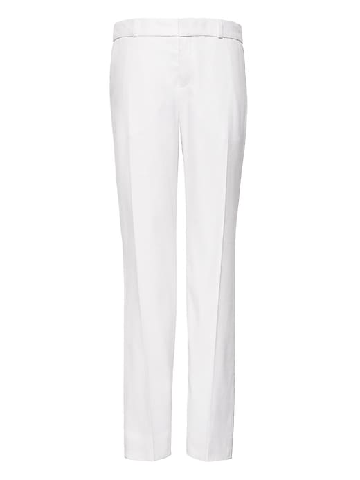 Petite Avery Straight Fit Stretch Linen Cotton Pant by Banana Repbulic